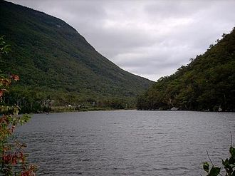 Franconia Notch - Franconia Notch, looking south from Profile Lake