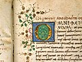 Pseudo-dionigi aeropagita, opera (traduz. latina di ambrogio traversari), firenze 1474 (pluteo 17.23) 03 capolettera O.jpg