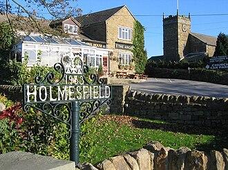 Holmesfield - Image: Pub and church, Holmesfield 275826