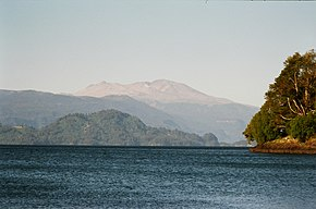 Puyehue Lake with Puyehue volcano in the background.jpg
