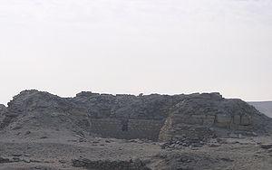 Remains of the Lepsius XXIV pyramid
