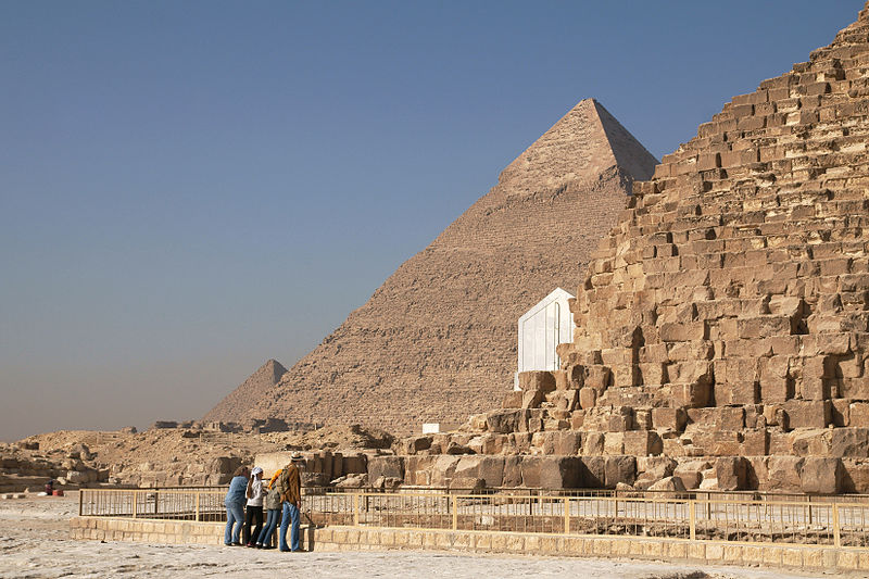 photograph: Pyramids of Giza
