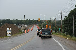 Quebec Route 148 - Western terminus, under construction, on Allumette Island