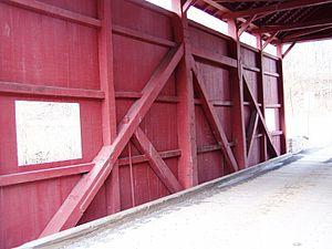 Queen post - Day Bridge in Southwestern Pennsylvania (Morgan Township, Green County)