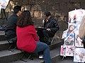 Quick sketch portrait artist in Ueno, Tokyo 2005-11-09 a.jpg