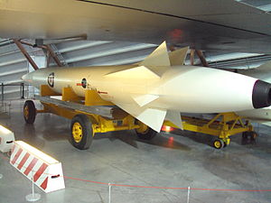 Nassau Agreement - A Skybolt missile at RAF Museum Cosford, showing the RAF roundel and the manufacturer (Douglas Aircraft) logo