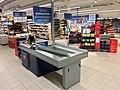 REMA 1000 Supermarket interior grocery store Tønsberg, Norway 2017-11-03 cashier checkout b.jpg