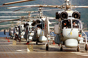 Kamov Ka-27 - Ka-27s aboard the aircraft carrier ''Novorossiysk'' in 1984