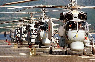 Kamov Ka-27 - Ka-27s aboard the aircraft carrier ''Novorossiysk'' in 1984