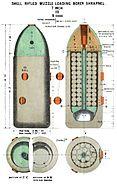 RML 7 inch Mk III shrapnel shell diagram