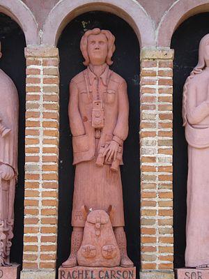 Rachel Carson - Statue of Carson at the Rocsen Museum, Nono, Argentina