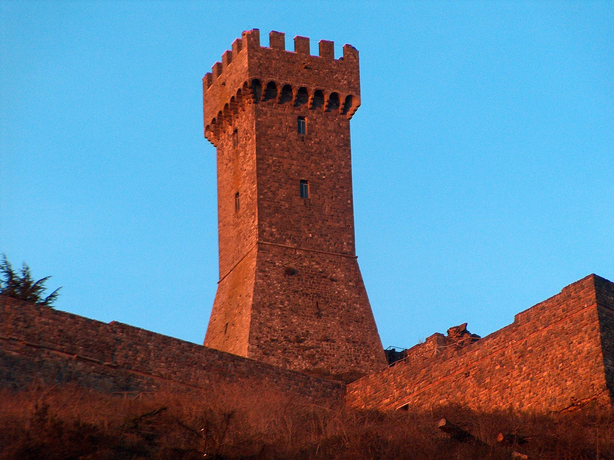 The castle at sunset - the tower