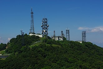 Victoria Peak - The summit is the site of radio telecommunication facilities