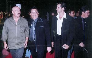 Rakesh Roshan - Roshan with his son Hrithik Roshan and Thakur Doultani