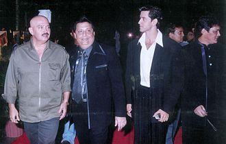 Rakesh Roshan - Roshan with his son Hrithik Roshan and Thakur Doultani