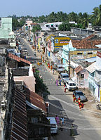 set of houses in the streets of Rameswaram.