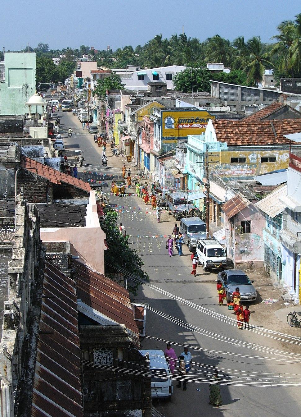 Rameswaram - street near temple