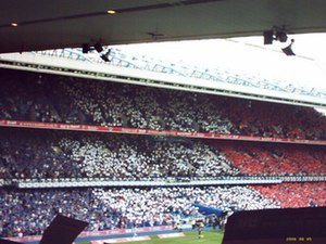 Rangers F.C. - Card display at Ibrox to welcome Paul Le Guen