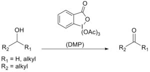 Dess–Martin periodinane - Reaction scheme