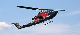 Red Bull - Red Bull's TAH-1F Cobra helicopter assembled by Chuck Aaron, owned by the Flying Bulls