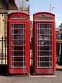 Red telephone boxes, Talbot Square, Blackpool.jpg