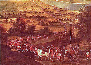 Surrender of Montauban - Louis XIII arriving for the redition of Montauban, 1629 (detail).