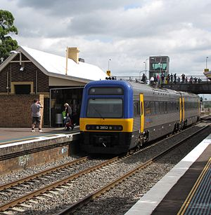 Adtranz - A refurbished New South Wales Endeavour railcar manufactured by Adtranz