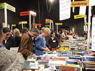 Regent Theatre, Dunedin - Bibliophiles pore over books at the annual Regent Book Sale