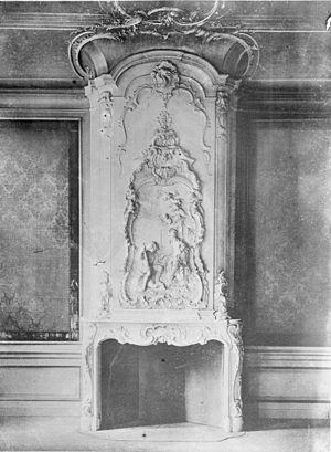 Jean de Neufville - Chimney piece in Keizersgracht 224