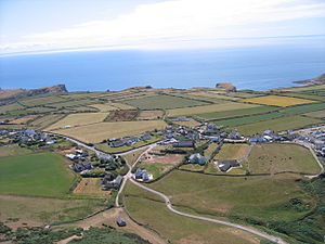 Rhossili - Image: Rhosilli village from the air