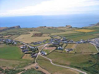 Rhossili A village in the county of Swansea, Wales