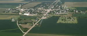 Ridge Farm, Illinois - Aerial view looking to the east, 2016