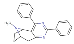 Rigid 2,3-fused pyrimidino cocaine analog 3e.png