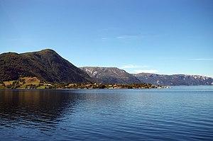 Brekke - View of the village area