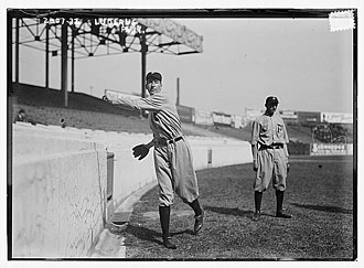 Eppa Rixey - Rixey on the left with Erskine Mayer in the background.