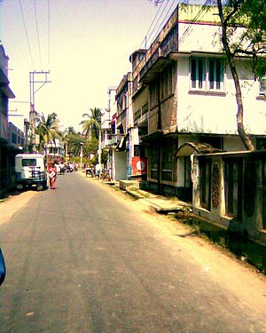 Basirhat - Road from station to Basirhat market area