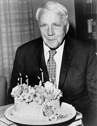 1959 in poetry - Robert Frost at his 85th birthday party