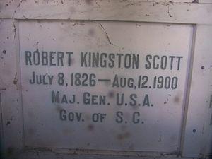 Robert Kingston Scott - Robert Kingston Scott's grave in mausoleum