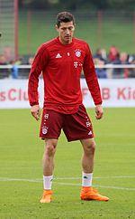 Robert Lewandowski à l'entraînement.