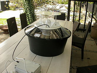 Insect collecting - A Robinson light trap for collecting moths