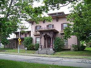 Jonathan Child House & Brewster–Burke House Historic District - Image: Rochester Brewster Burke House front