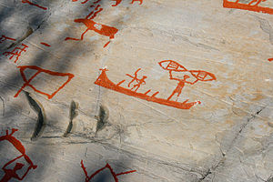 Detail from the rock carvings at Alta