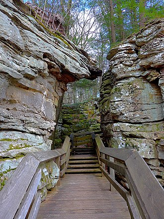 Beartown State Park - Image: Rocks at Beartown