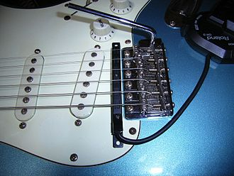 Guitar synthesizer - Roland GK-3 divided pickup mounted on normal electric guitar
