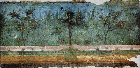 Fresque du nymphée souterrain de la villa Livia