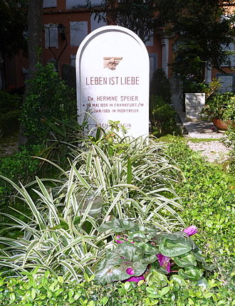 Hermine Speier - Grave of Hermine Speier in the Collegio Teutonico.