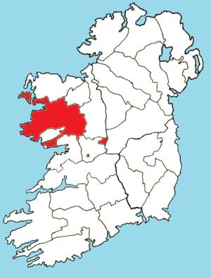 Roman Catholic Archdiocese of Tuam - Image: Roman Catholic Diocese of Tuam map
