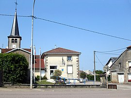 The town hall in Romont