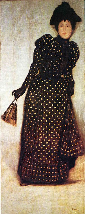 Hungarian National Gallery - Woman Dressed in Polka Dots Robe, József Rippl-Rónai, 1889