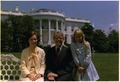 Rosalynn Carter, Jimmy Carter and Amy Carter on the south lawn in front of the White House. - NARA - 175597.tif